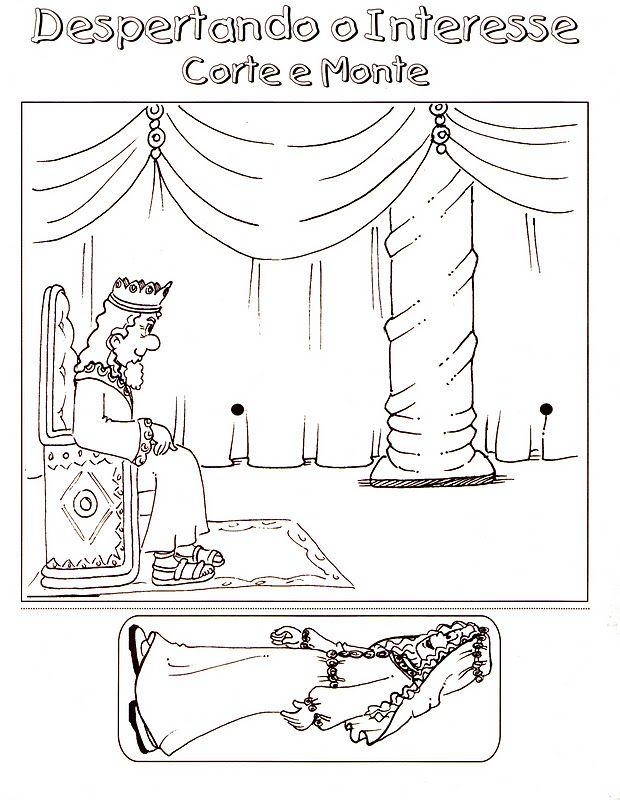 Esther gaat naar de koning / Knutselwerkje voor kleuters