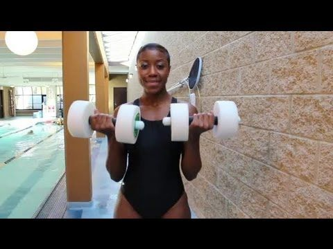 How To Exercise With Water Dumbbells : Life U0026 Exercise   YouTube