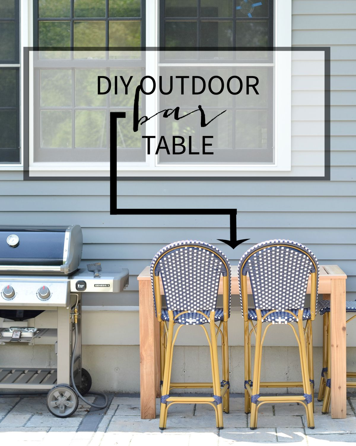 DIY Outdoor Bar Table   Free Plans
