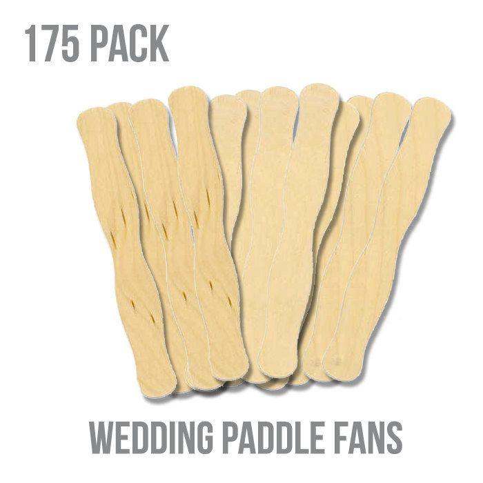 8 Unfinished Wood Wavy Bid Paddle Wedding Fan Sticks Pack Of 175 22 50 Via Etsy Wedding Fans Wedding Paddle Fans Wedding