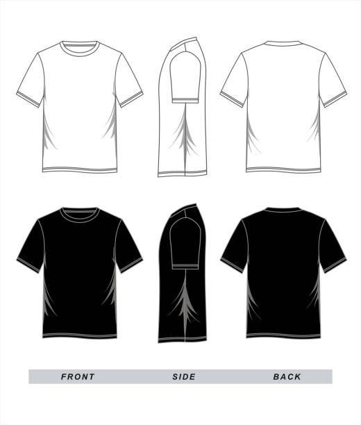 Download Preto Do Modelo T Shirt Branco Ilustracao De Arte Em Vetor Camisas Estilosas Camiseta Polo Designer De Roupa
