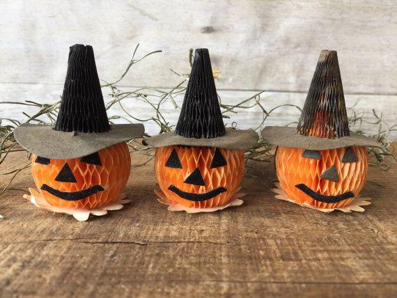 Vintage Halloween Party Decorations  Vintage Jack O' Lantern Cupcake Topper