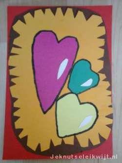 Kaart voor valentijn of moederdag
