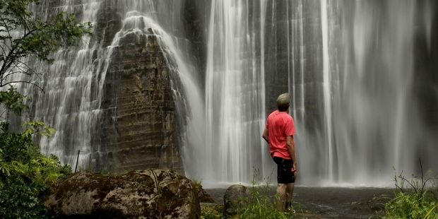 Shine Falls, in the Boundary Stream Reserve, Hawkes Bay, is a spectacular sight. Photo / Alan Gibson