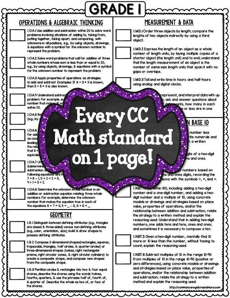 Example Method Statements Common Core Math Checklists  1St Grade  Pinterest  Common Cores .
