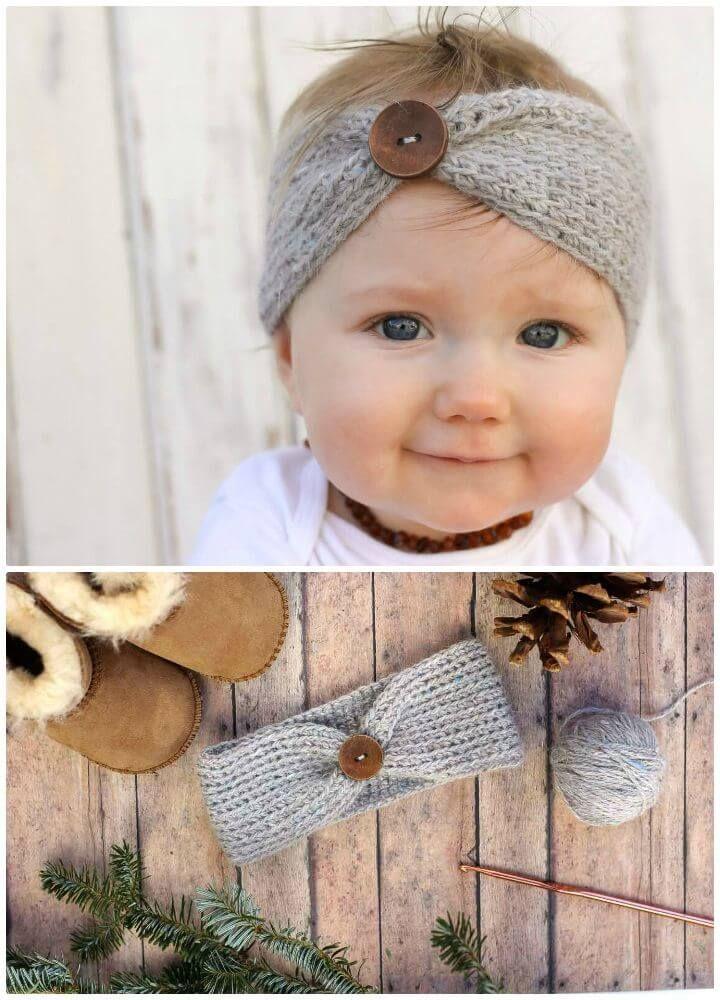 Crochet Headbands for Babies - 28 Free Patterns   Bebe, Ganchillo ...