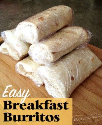 How To Make Quick And Easy Breakfast Burritos With Images Easy Breakfast Burritos Easy Camping Breakfast Easy Breakfast