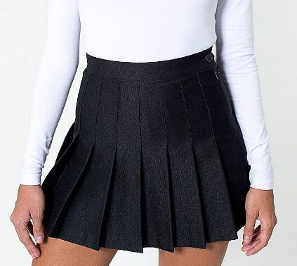 4b7d961cc Estilo de cintura alta mujeres esenciales de plisado Skater falda de ...
