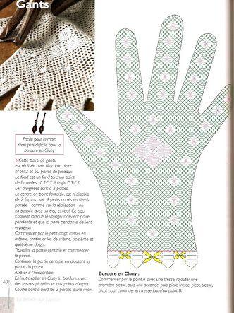 Resultado de imagen para guantes crochet patron | crochet ...