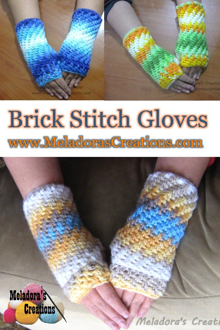 This is Your place to learn to crochet the Brick Stitch Finger less ...