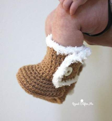 70 Ideas For Crochet Baby Boots Free Pattern Repeat Crafter Me #crochetbabyboots