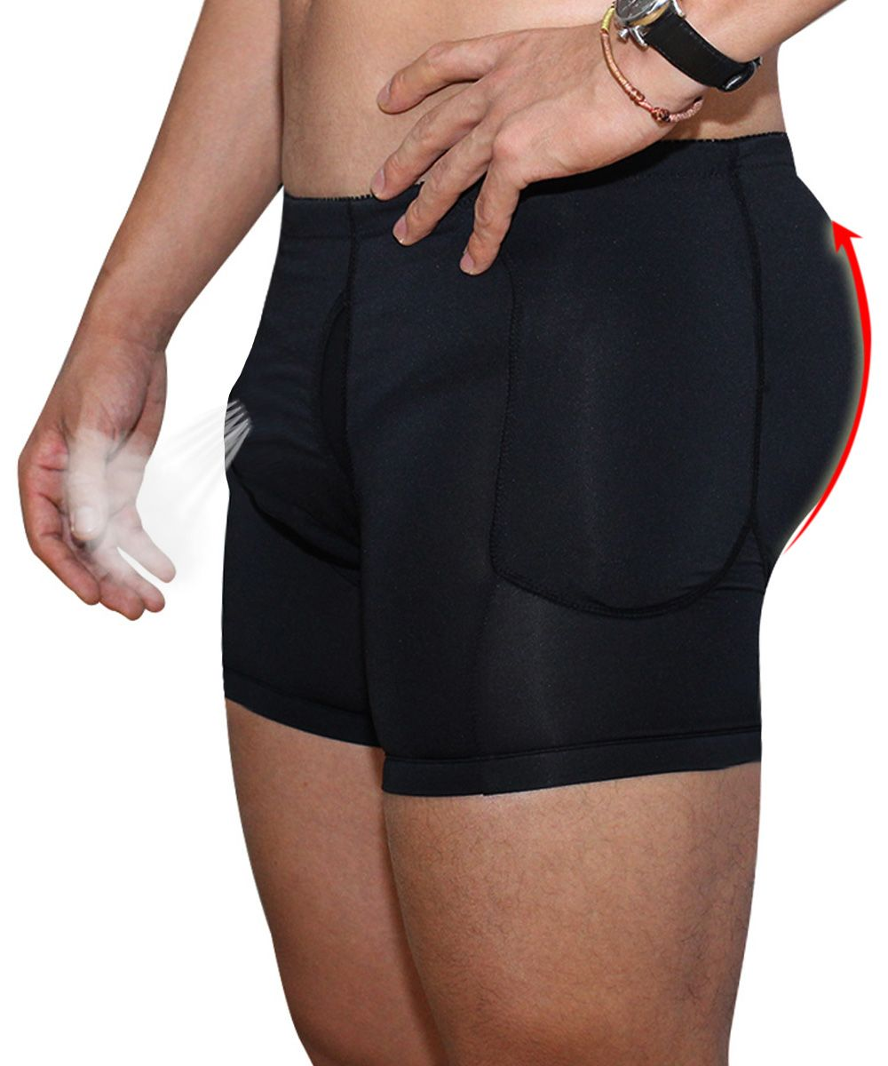 a21c6f615f Fashion Men Plus Size Sexy Butt Lifting Slim Shapewear Compression Trunk  Boxer Front Opening Pad Underwear