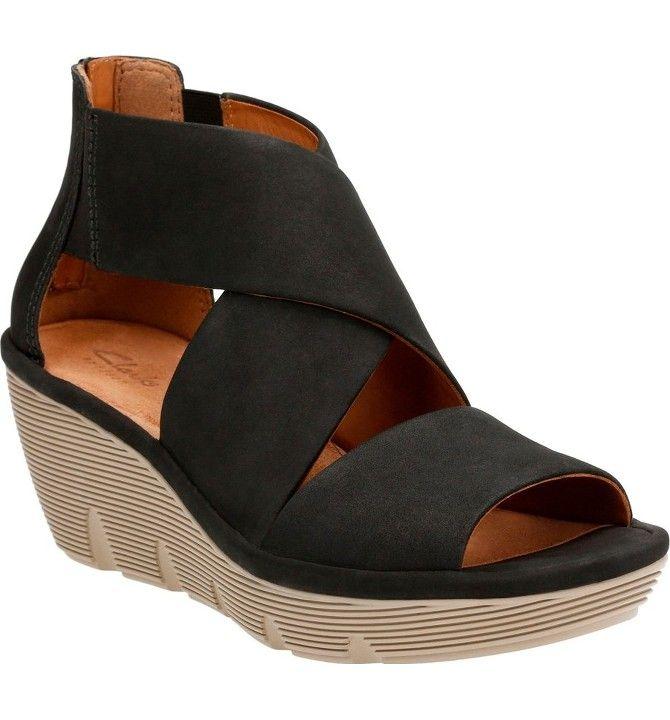65ad9c84aa10 Main Image - Clarks® Clarene Glamor Wedge Sandal (Women)