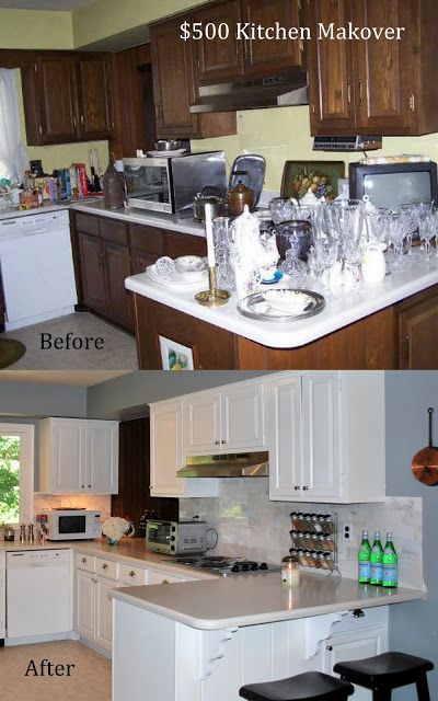 500 00 Diy Kitchen Makeover Before And After Diy Kitchen