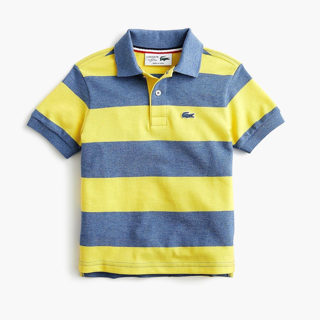 6856d64f crewcuts Lacoste For J.Crew Striped Polo Shirt | Boy fashion | Polo ...