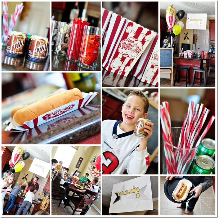 Want To Throw A Fun Diy Birthday Party Try Out This Home Movie Theatre Theme Movie Themed Party Movie Birthday Party Kids Movie Party