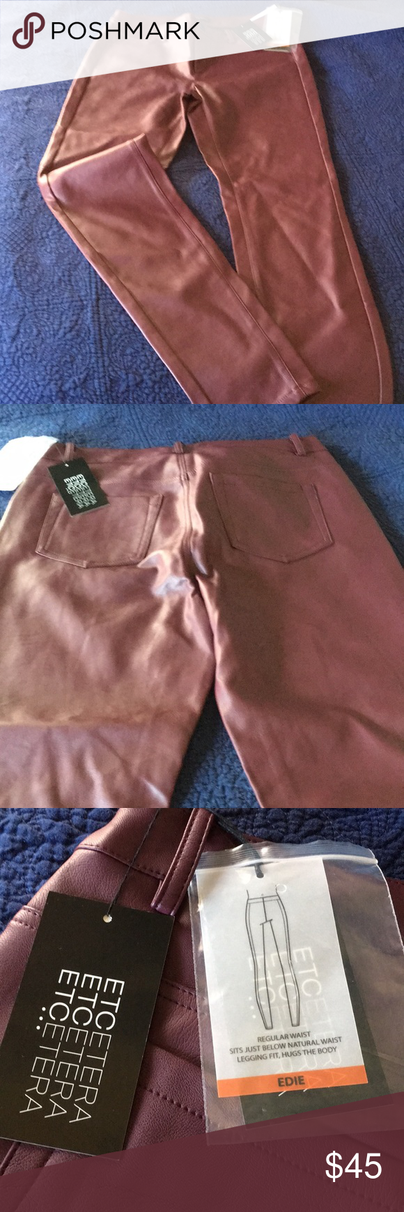 Etcetera Vegan Leather Pants Nwt Nwt Leather Pants Vegan Leather Pants
