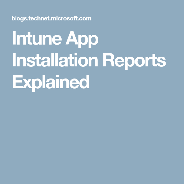 Super easy start with reporting and the Intune Data