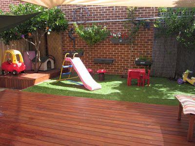 Small Backyard Deck And Playground Landscaping Idea Backyard