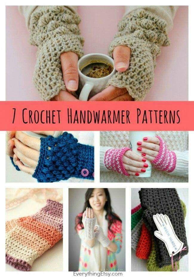 Hand warmers | crocheting | Pinterest | Guantes, Tejido y Hipopótamo ...