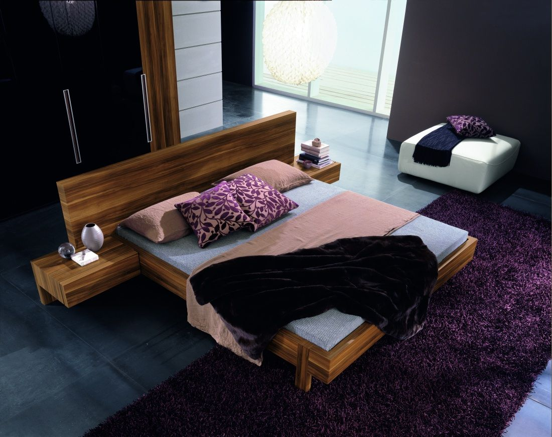 Rossetto Gap Walnut Queen Size Bed