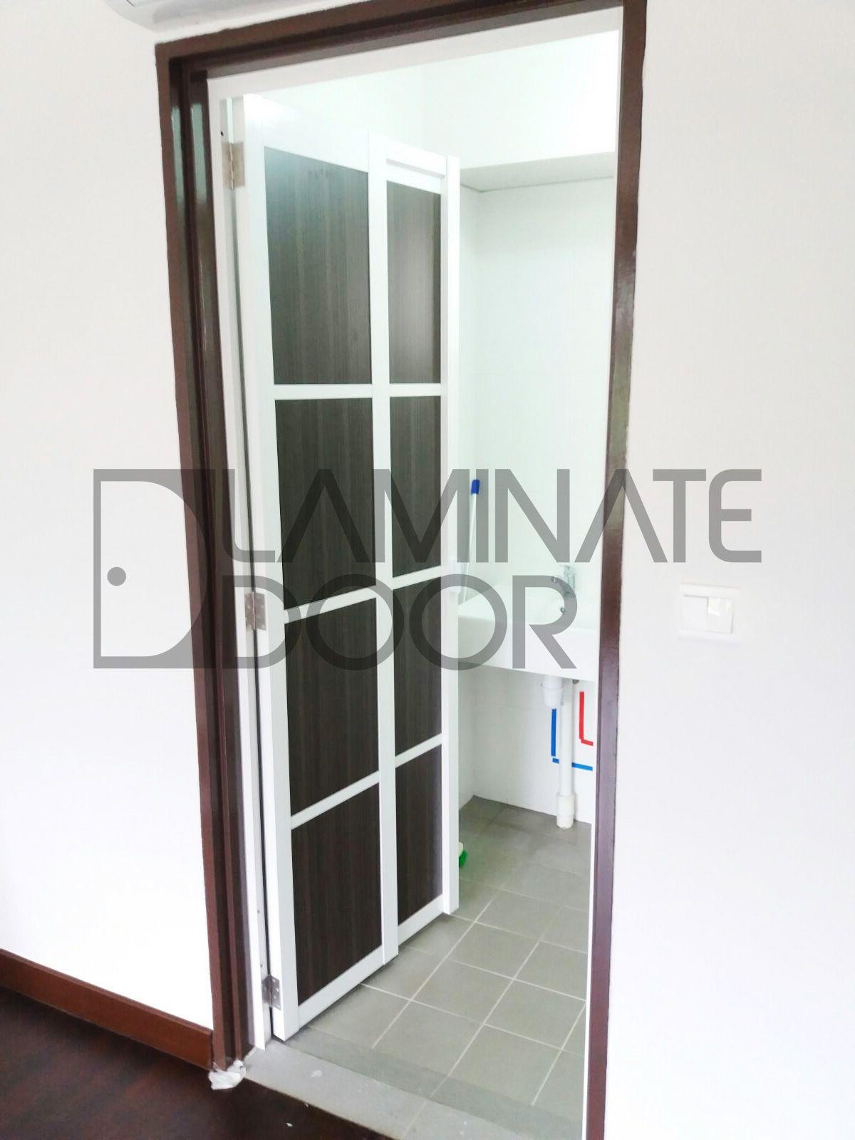 Slide Swing Toilet Door Install For Hdb Get 1 Door At 350 And 2 Door At 680 Free To Customize Call 85220015 No Laminate Doors Bedroom Doors Door Design