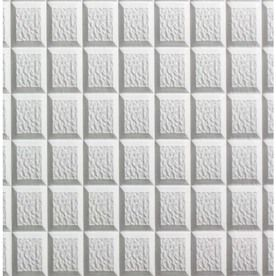 Spectratile 12-Pack White Patterned 15/16-In Drop Ceiling Tiles (Commo