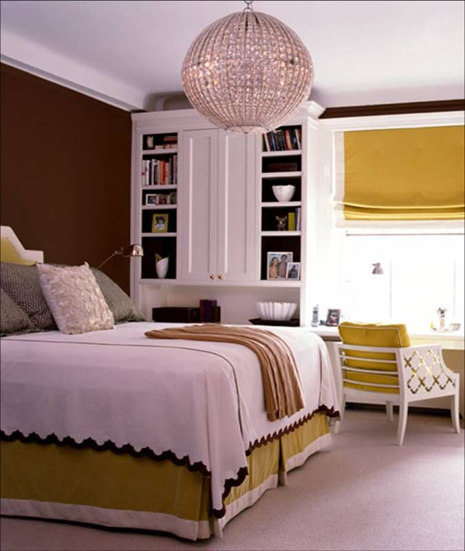 Beautiful Bedroom Chocalate Brown Yellow Mustard White Bed Listed In: Interior  Design Bedroom Contemporary Urban