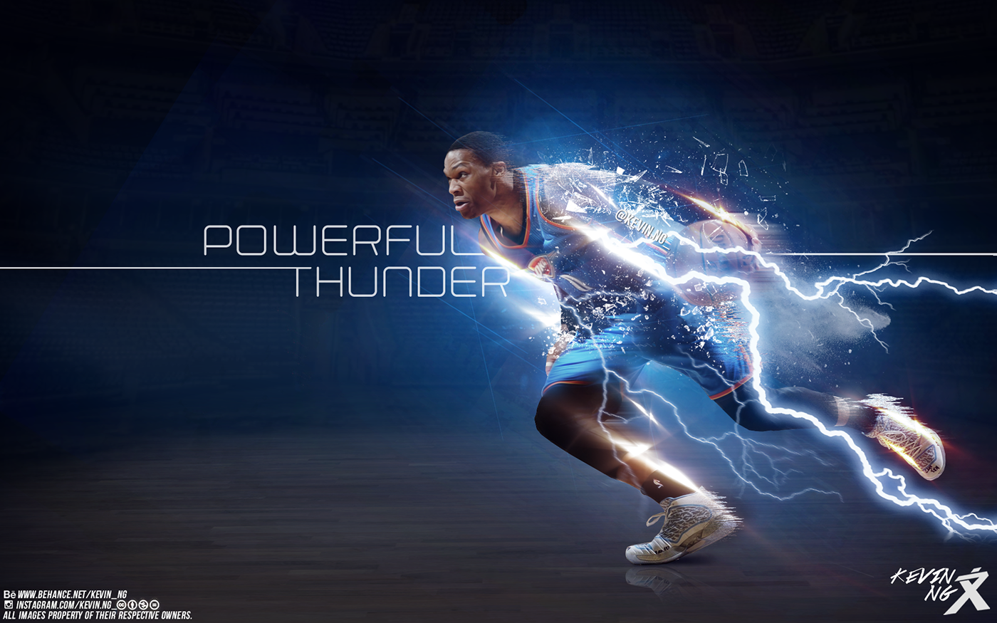 Russell Westbrook 'Powerful Thunder' Wallpaper on Behance