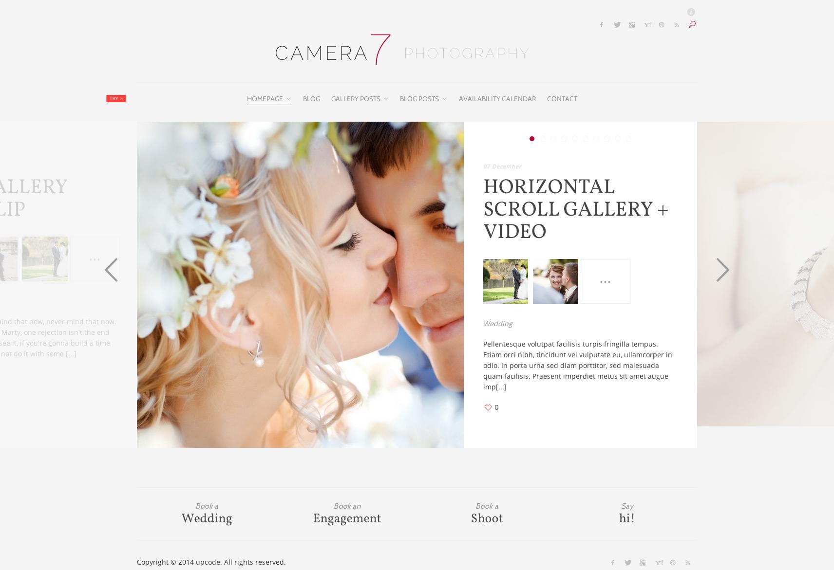 Camera 7 - Minimal Photography WordPress Theme #theme #template ...