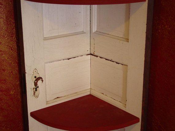Vintage door corner bookcase by MissississiWood on Etsy