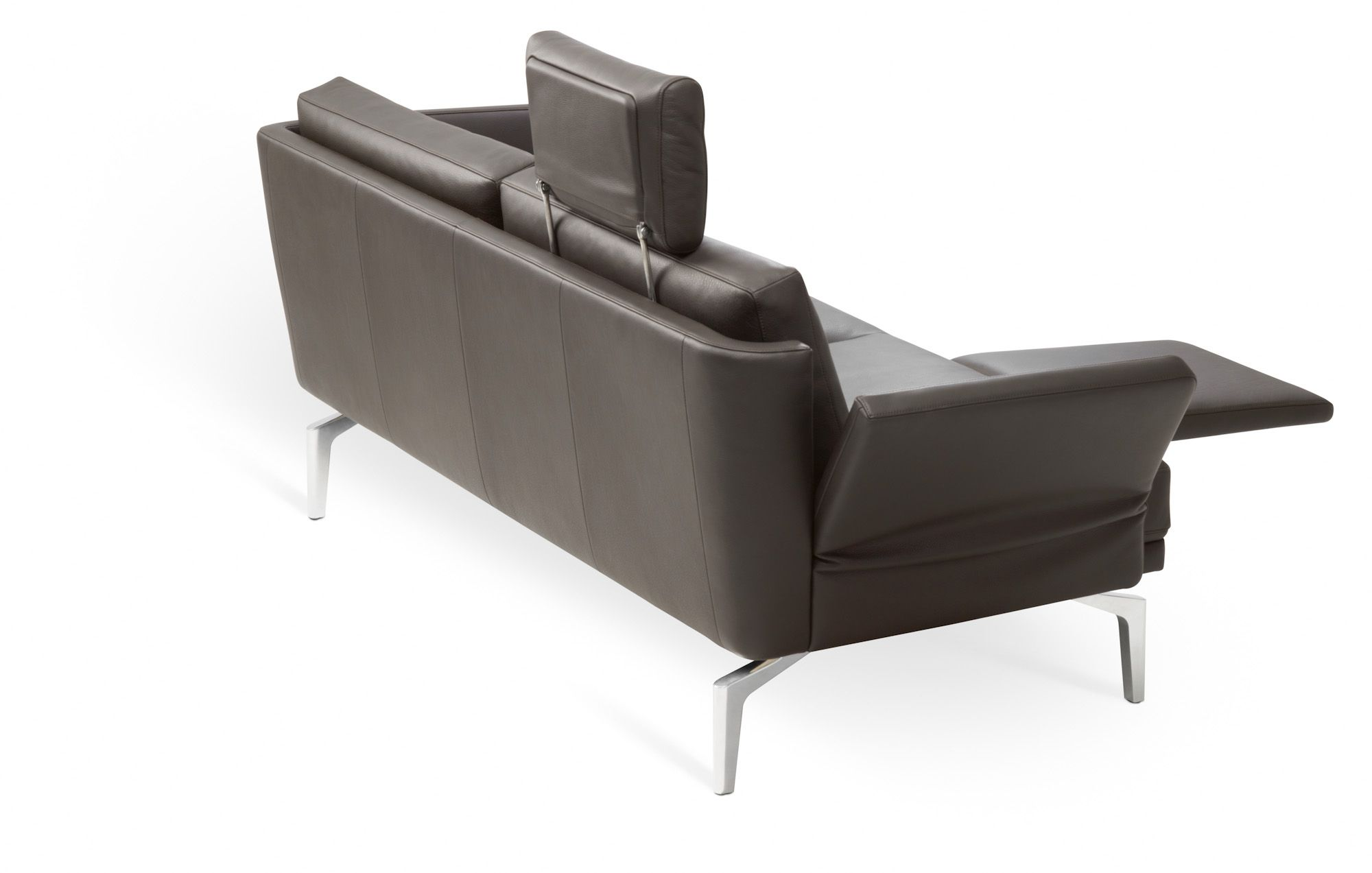 Brilliant Couch Leder Braun Sammlung Von Modernes Sofa | | | Ausschwenkbare Fußauflage