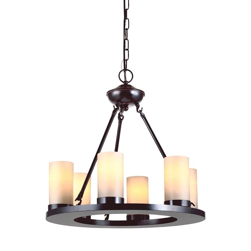 Pillar Candle Chandelier Round Globe Rustic Lighting Chandeliers