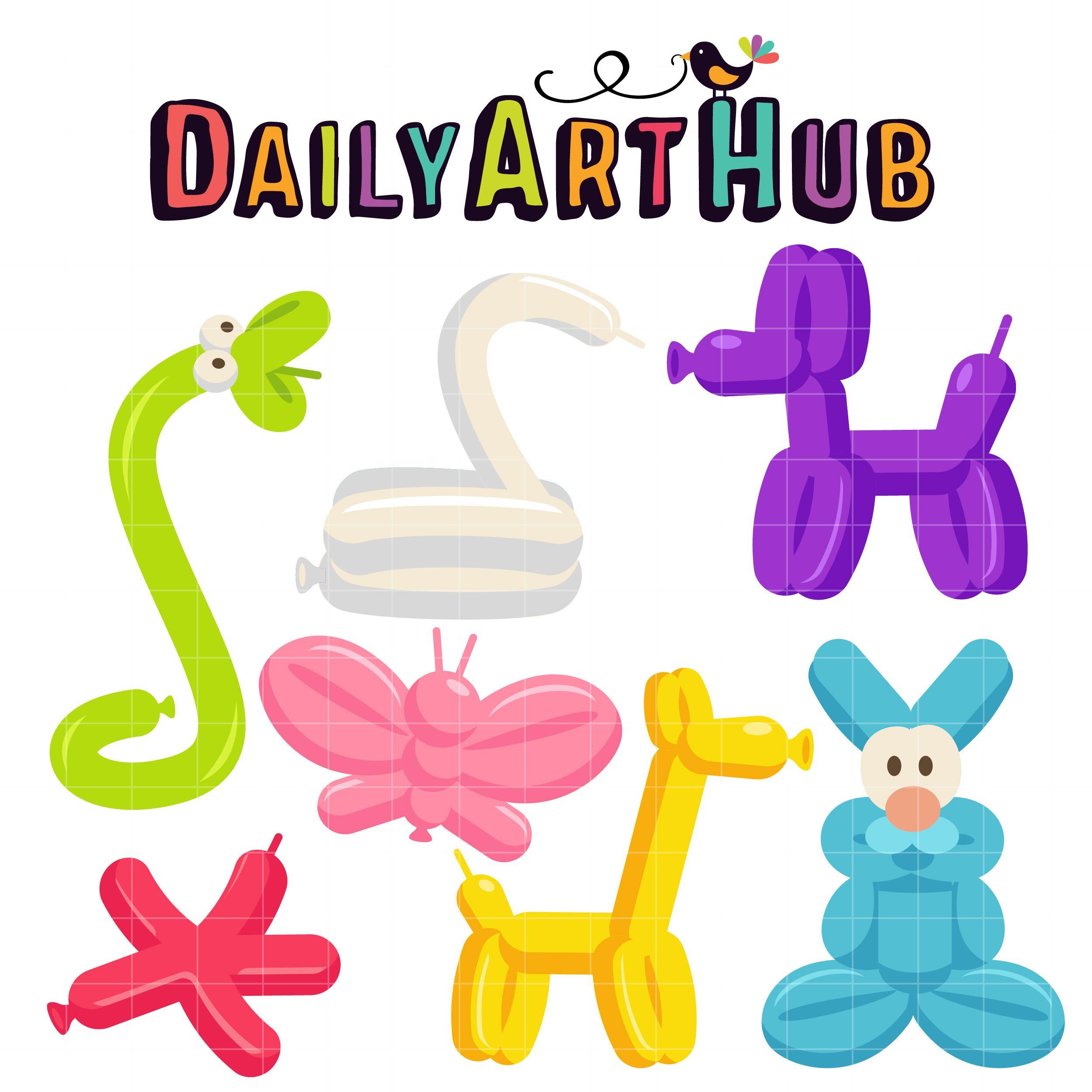 Balloon Animals Clip Art Set Daily Art Hub Free Clip Art Everyday Balloon Animals Clip Art Balloons