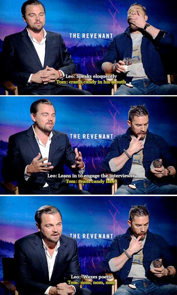 0c5f1401dae4bb0ebce68a861575bb68 the difference between leonardo dicaprio and tom hardy man oh