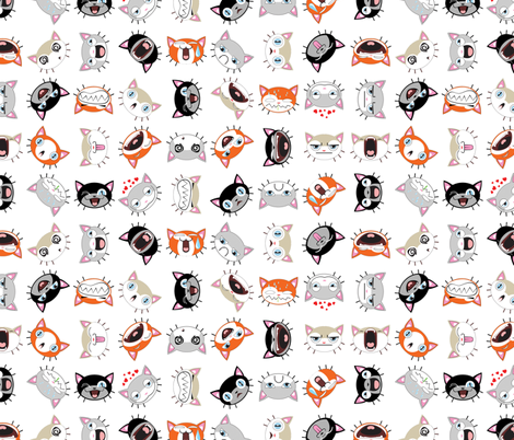 Retro Cats fabric by id_designs on Spoonflower - custom fabric