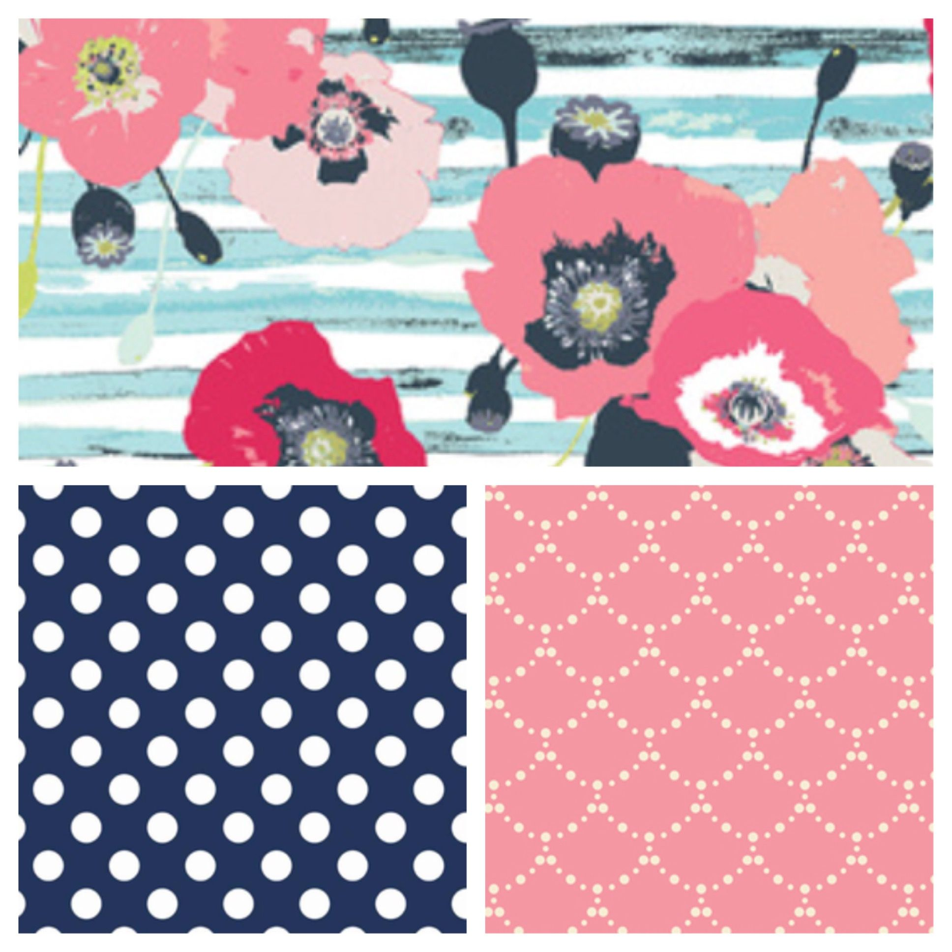 Baby S Nursery Fabrics Paparounes In Pastel Dumb Dot Navy And Ripples Rose Perfect For A Feminine But Not Overly Y C