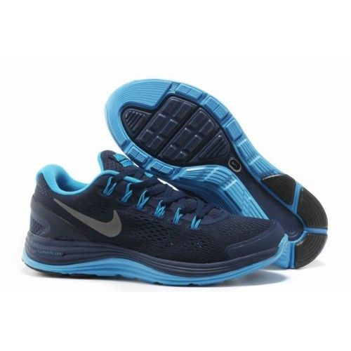 pretty nice 7e97e 41cec Nike Lunar Charge Premium Men Blue Black Shoe 003