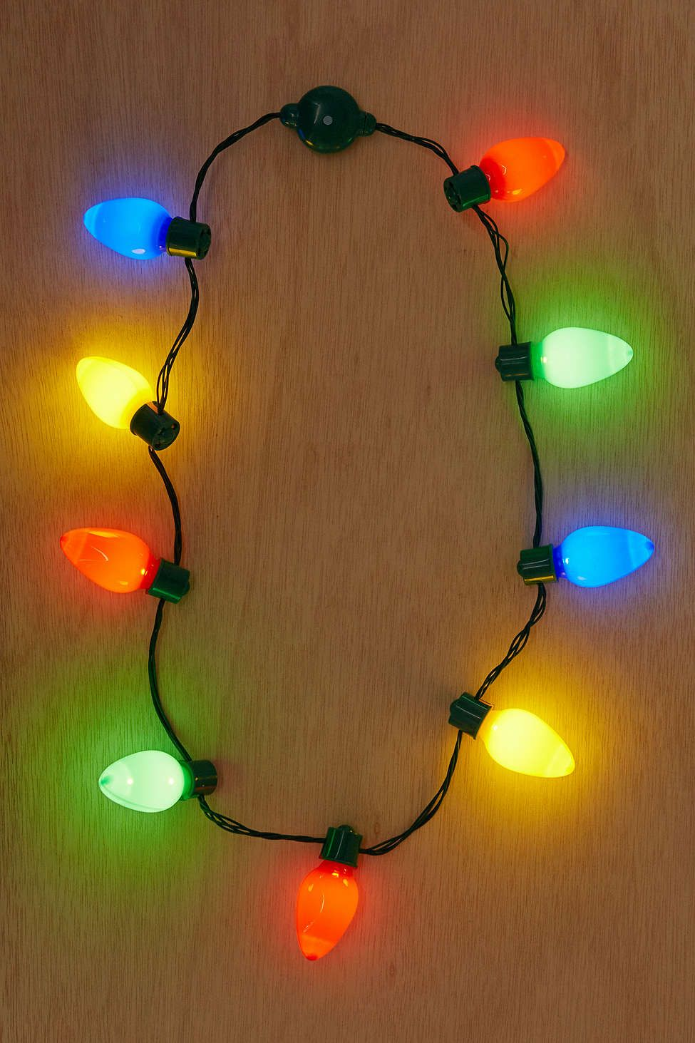 Giant Holiday Light Up Bulb Necklace Christmas Light Necklace White Elephant Gifts Classroom Holiday Party