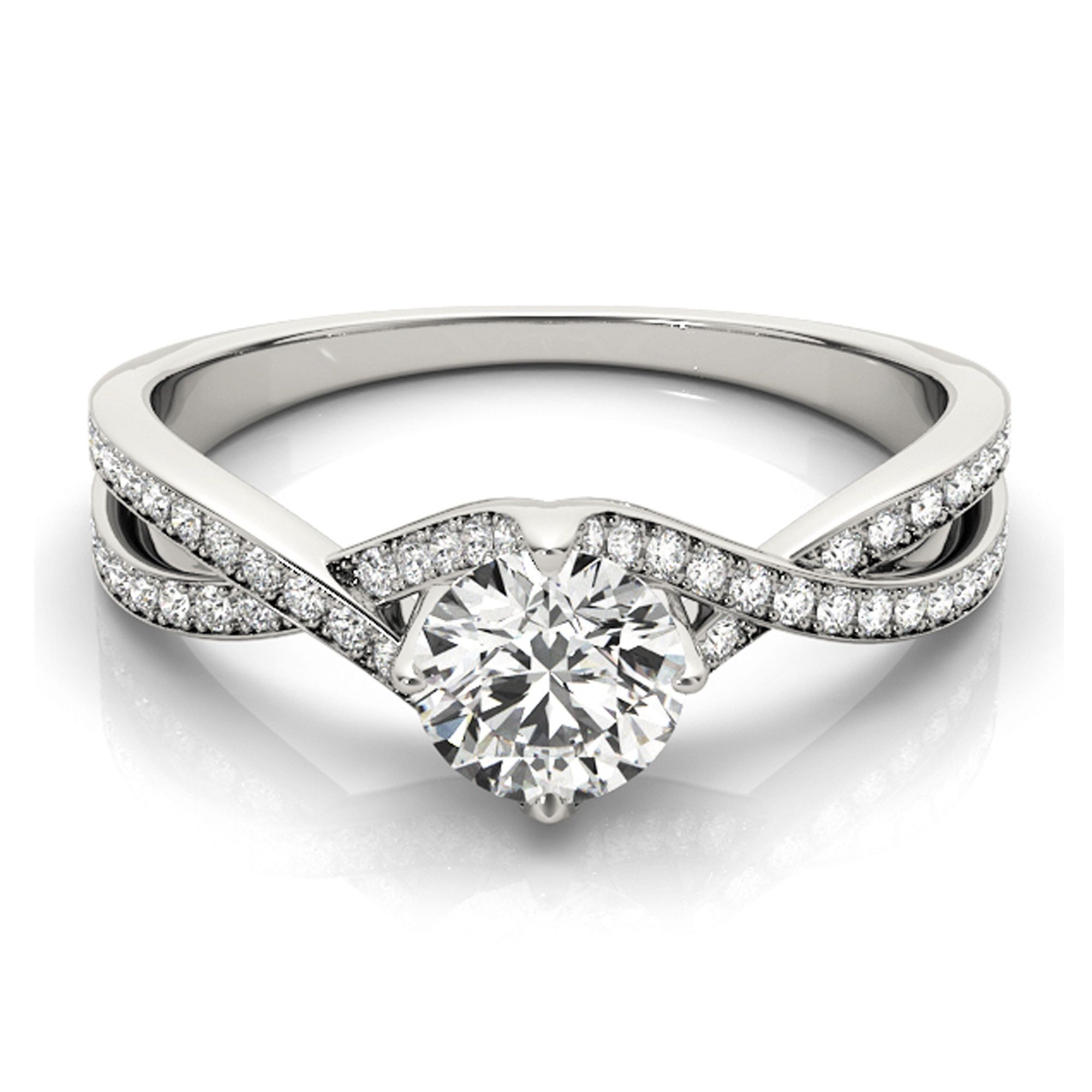 Transcendent Brilliance 14k Gold 3/4ct TDW Diamond Split Shank Engagement Ring (G-H, VS1-VS2) (Rose - Size 5), Women's, Pink