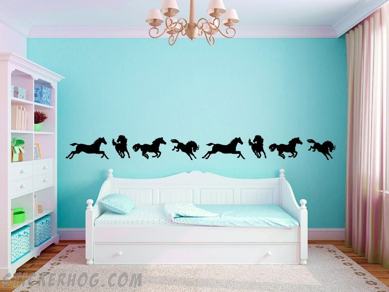 Best Horse Border Vinyl Wall Decals Horse Themed Bedrooms Horse Room Decor Girl Bedroom Walls 400 x 300