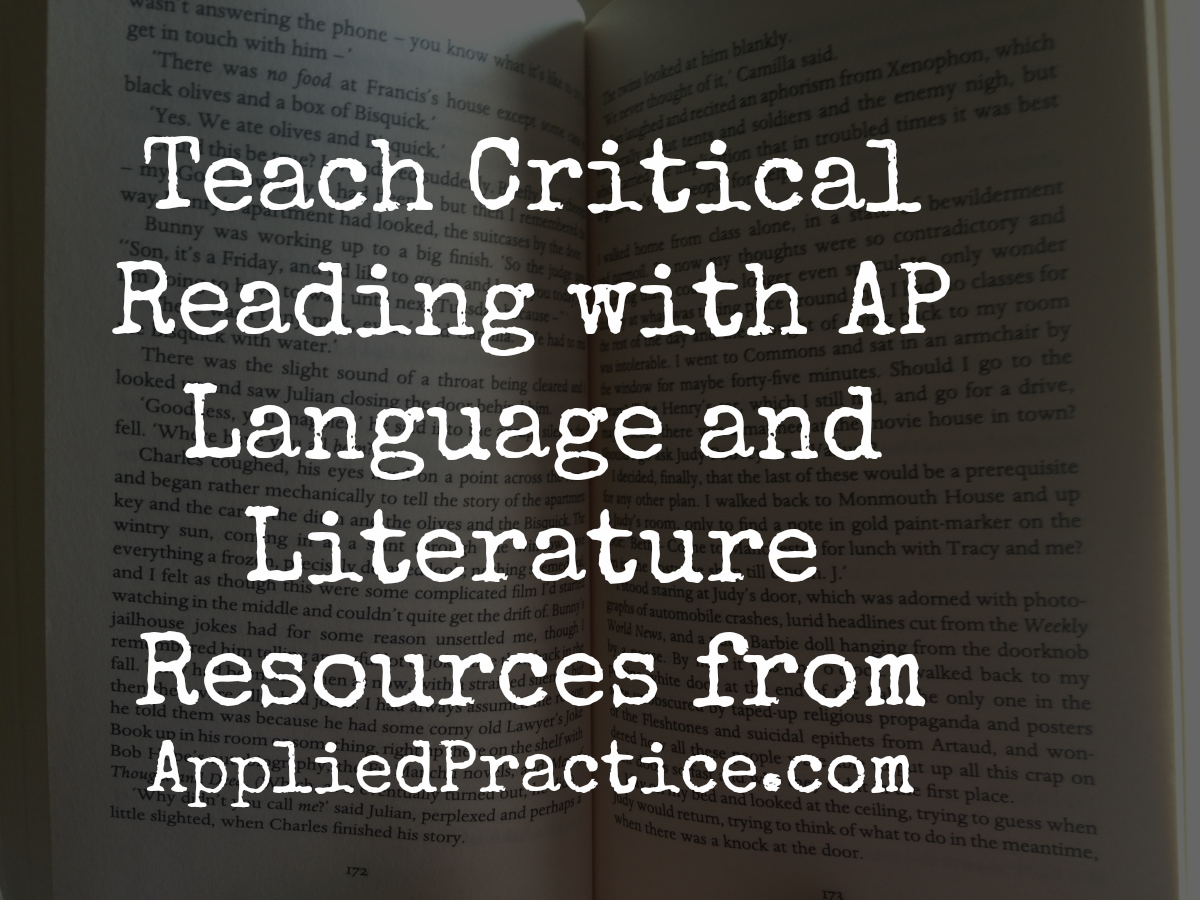 Great Resources For Ap English Language And Lit Teachers