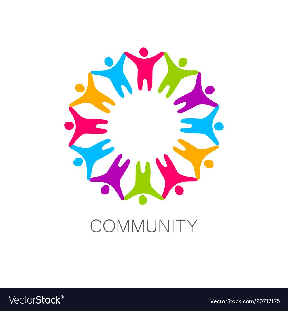 Community Logo Design Template Royalty Free Vector Image