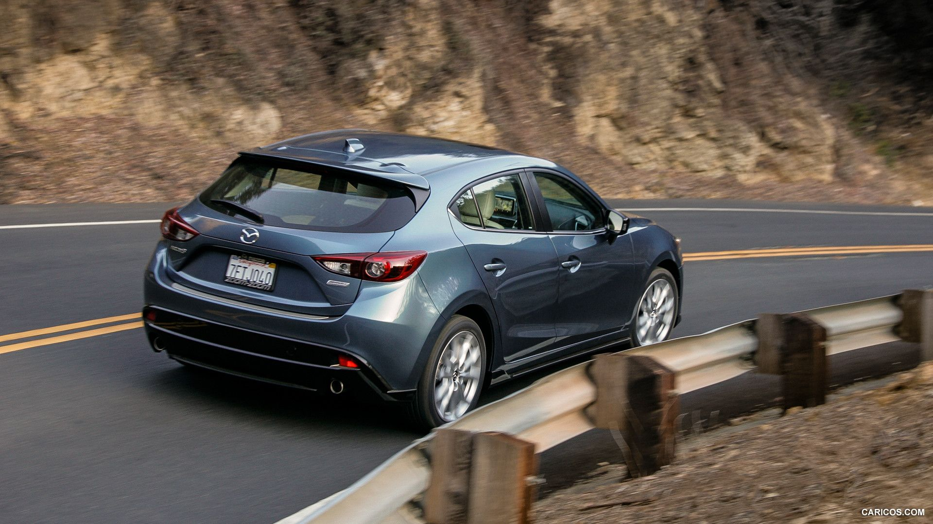 2015 mazda 3 5d s touring 6mt blue reflex rear hd