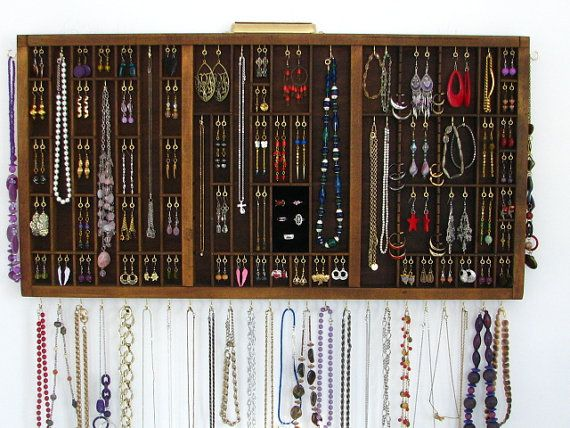 Rustic Jewelry Organizer Earring Holder Home by BlackForestCottage