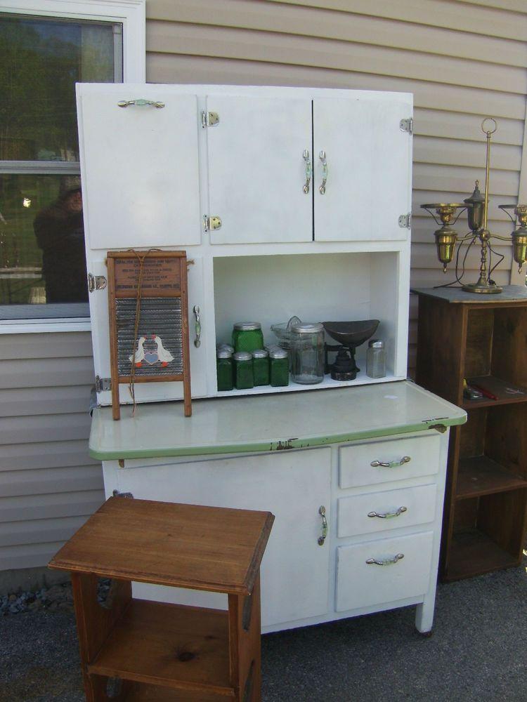 Antique Vintage Hoosier Sellers Cabinet Flour Bin Bread Drawer Antique Kitchen Cabinets Kitchen Cabinet Styles Farmhouse Kitchen Cabinets