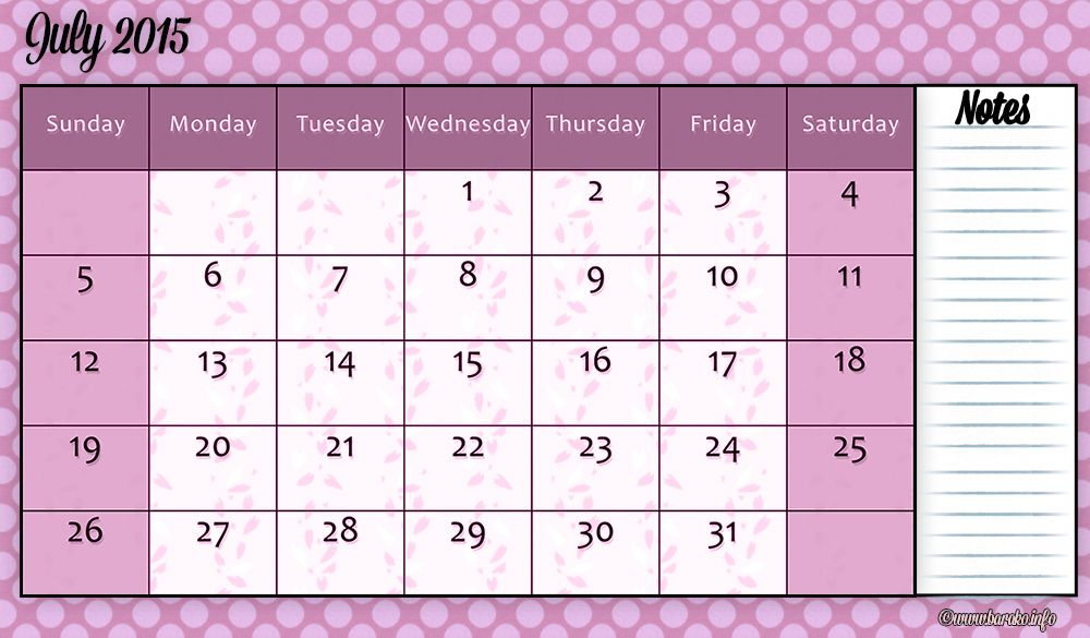 free printable july 2015 calendar a3 Printable Calendars - Perpetual Calendar Template