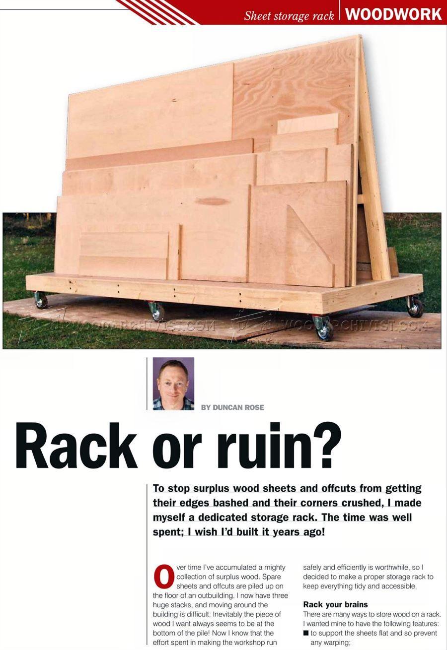 Superb #180 Plywood Storage Rack Plans   Workshop Solutions