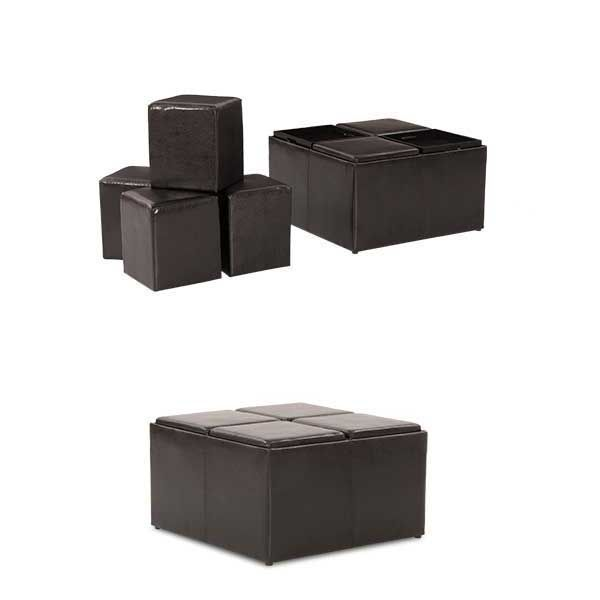 The Cubes Cocktail Ottoman collection from JGW Furniture offers