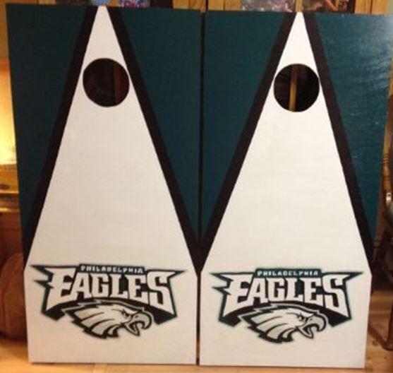 Philadelphia Eagles Custom Made Corn hole Boards - These Cornhole ...